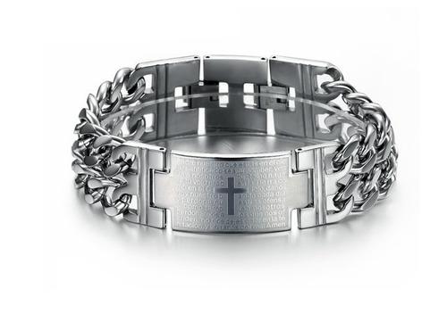 lo nuevo brazalete esclava de acero inoxidable