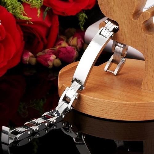 lo nuevo pulsera esclava de acero inoxidable