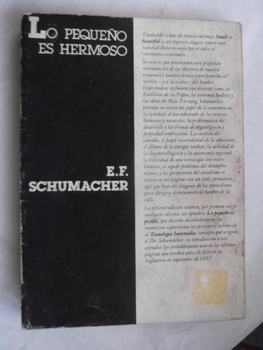 lo pequeño es hermoso e. f. schumacher