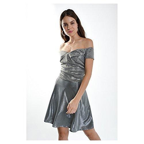 0e305b521ce3 Lob-lob-vestido Corto Plata Dvcr0869