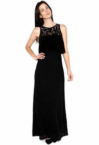 ac7b04d18e Lob- Vestido Negro Vestido Para Mujer