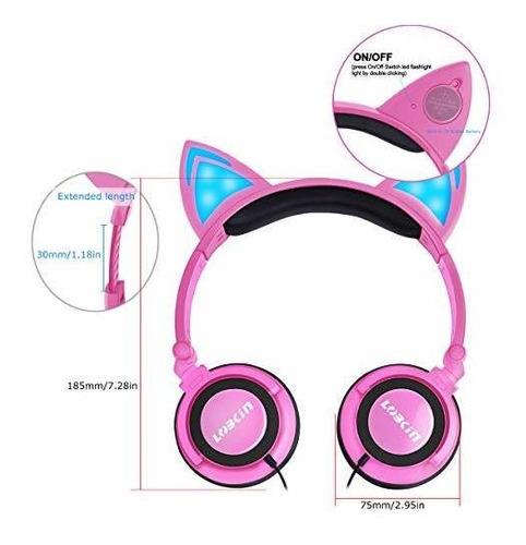 lobkin auriculares plegables con cable sobre la oreja para n