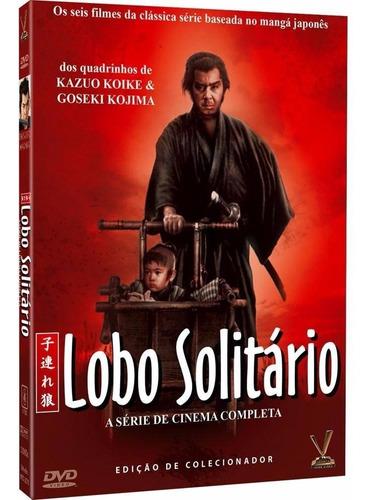 lobo solitário - box com 3 dvds - 6 filmes - novo