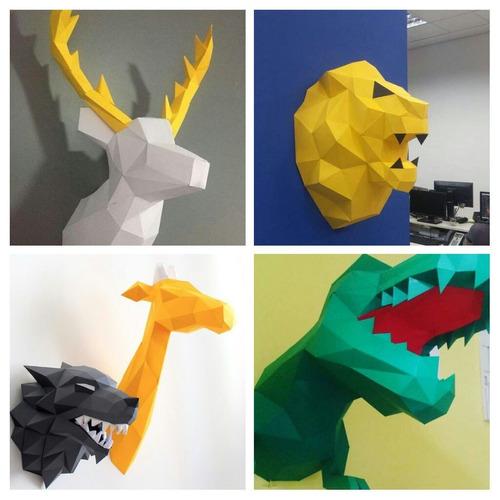 lobo stark got para decoração de parede feito em papel