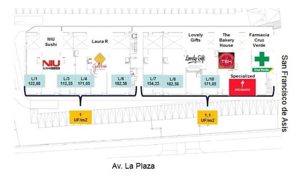(loc) strip center en av. la plaza / san francisco de asis 113,35 m2