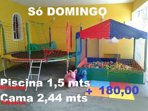 locaçao  piscina bolinhas + escorregador + 2 gangorra +