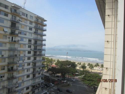 locação 1 dormitório frente andar alto vista mar junto praia