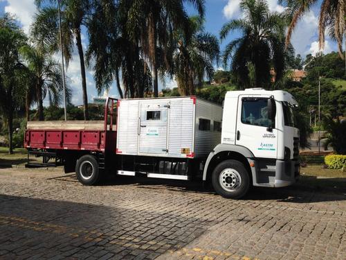 locação / aluguel caminhão com cabine suplementar auxiliar