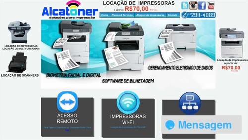 locação aluguel impressora scanner multifuncional 50,00