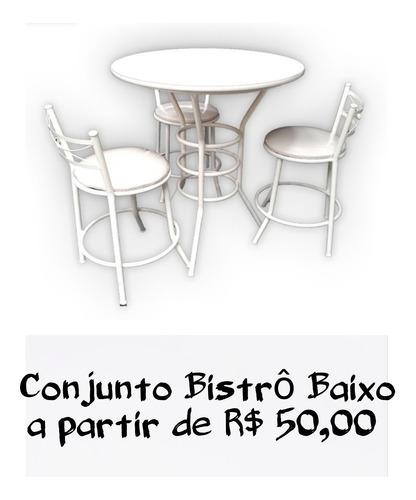 locação aluguel mesa bistrô banquetas conjunto bistrô puffs