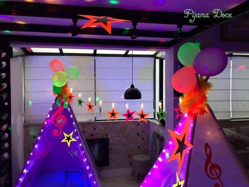 locação cabanas barracas festa do pijama completa!