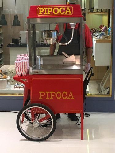 locação carrinho de pipoca & algodão doce retro - promoção