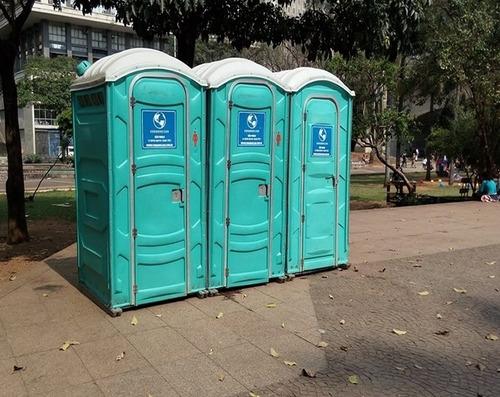 locação de banheiros químicos e guarita para obras e eventos