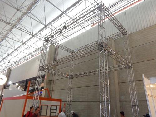 locação de box truss  estrutura em aluminio