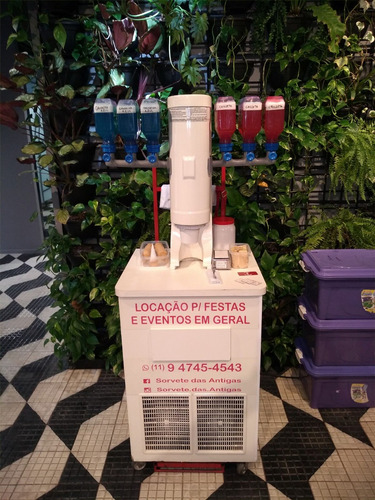 locação de máquina de sorvete americano (antigo) c/ operador