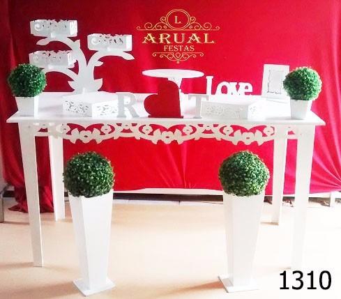 locação de mesa provençal para decoração de festas e eventos