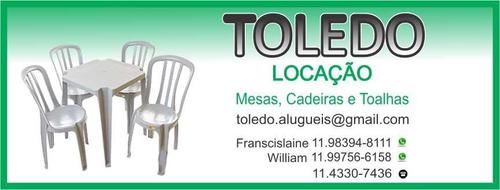 locação de mesas, cadeiras e toalhas no abcd