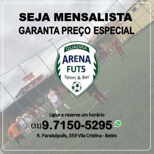 locação de quadra para prática do futebol society.