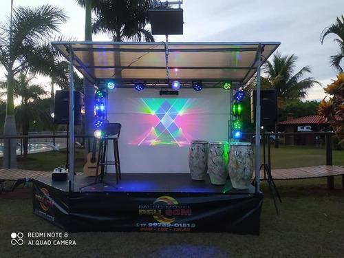 locação de som e palco móvel