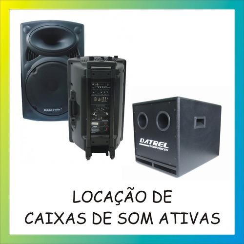 locação de som, iluminação, projetor, karaokê e fliperama