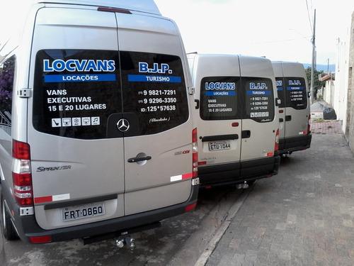locação de vans executiva,excursões15,16,17,18,19,20 lugares