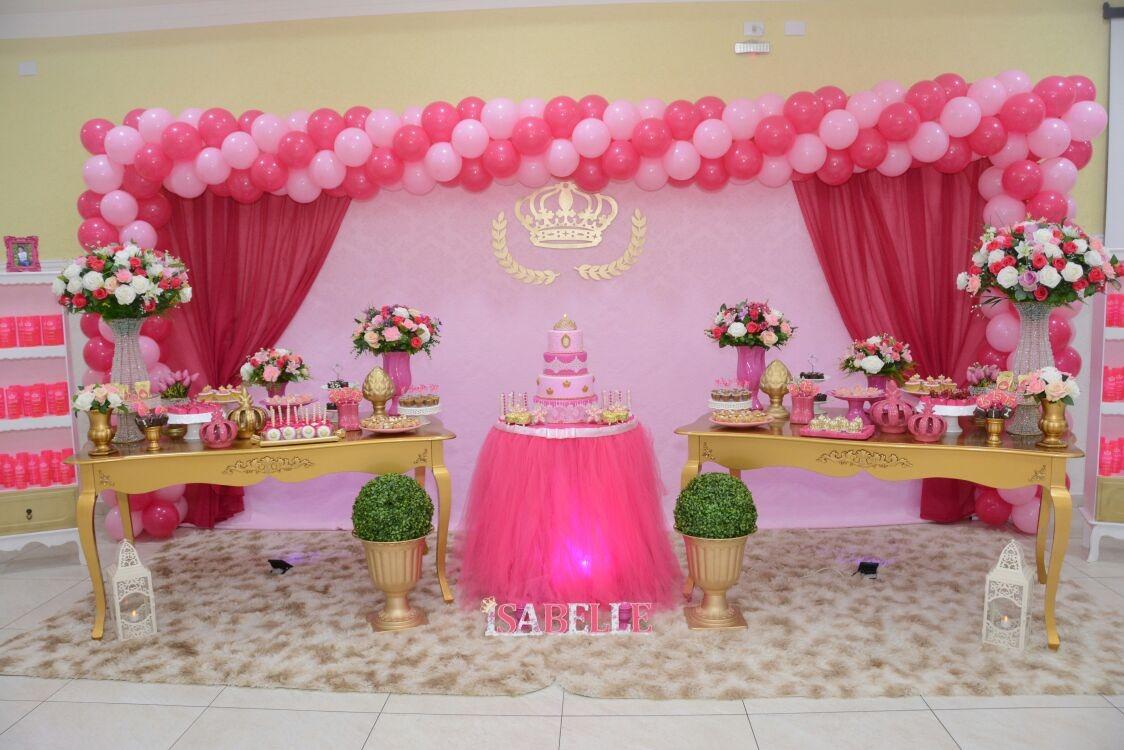 Locaç u00e3o Decoraç u00e3o Realeza Luxo R$ 949,99 em Mercado Livre -> Decoração De Festa Infantil Realeza Luxo