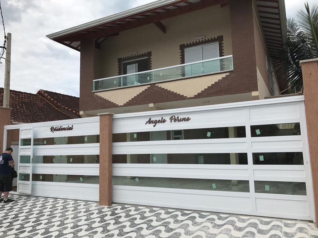 locação definitiva!casa condomínio - maracanã - praia grande