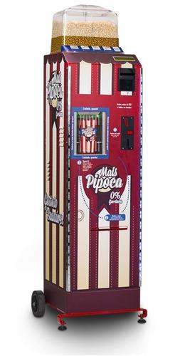 locação  maquina de pipoca 100% automática, vending machine