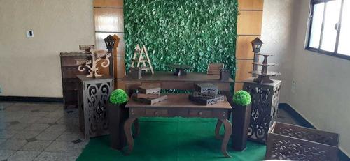 locação móveis provençal branco e rústico - saga decorações