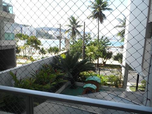 locação temporada - apartamento 2 dormitórios - frente ao mar - astúrias - guarujá - ap1091