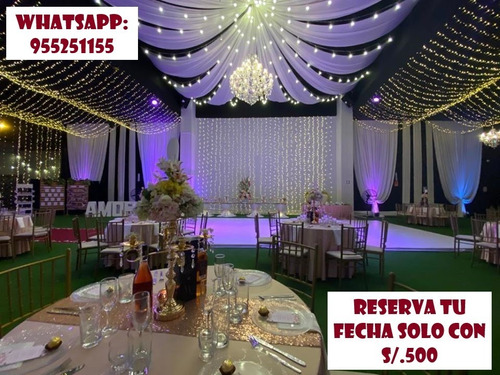 local 1000m2 + toldo + catering (200 personas) - chorrillos