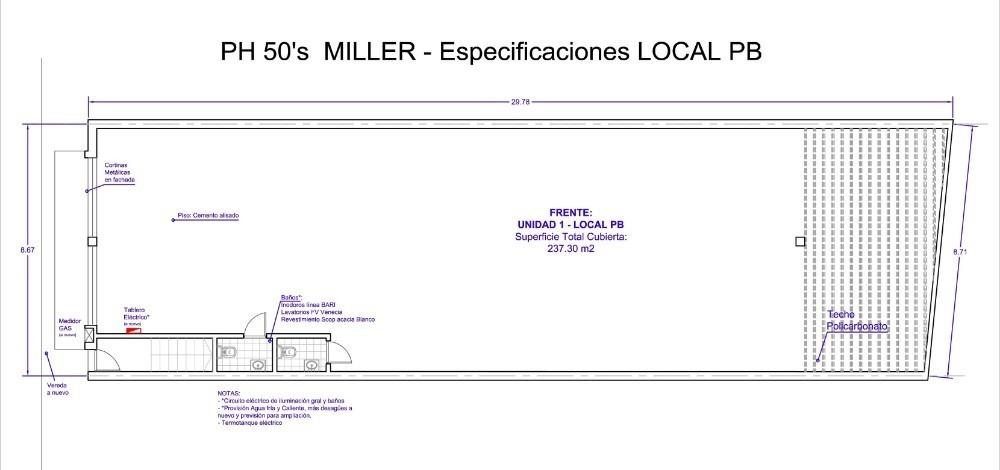 local 238 m2 sin expensas villa urquiza dueno directo