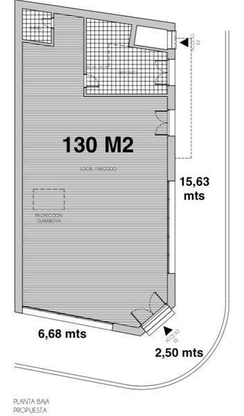 local cabrera esquina thames 25 mts de frente 200 m2 cubiertos mas terraza apto todo destino