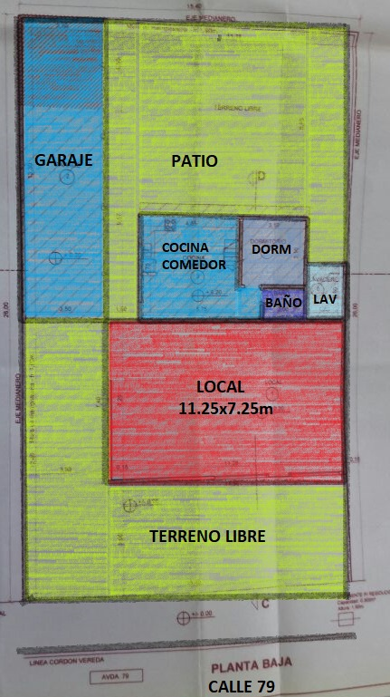 local + casa en block - 79 n° 1355