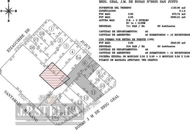local comercial 280 m² s/ lote de 1100 m² salida a 2 calles zona shooping - s.justo (ctro)