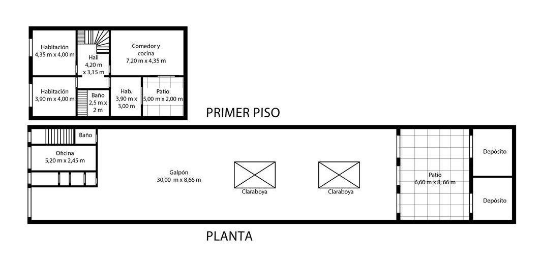 local comercial con vivienda de 4 ambientes