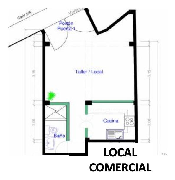 local comercial / departamento con baño y cocina - callao