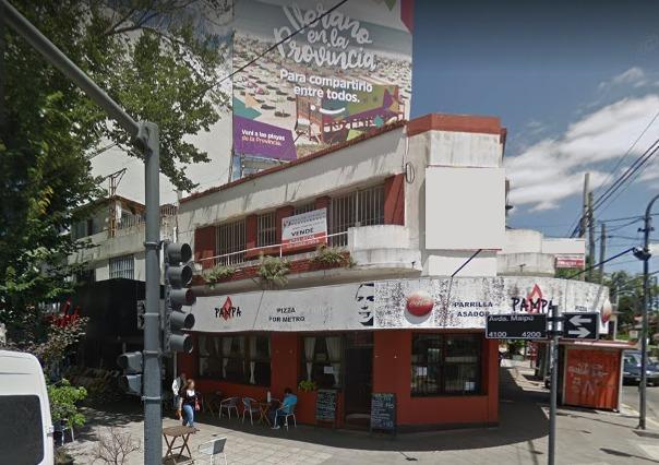 local con oficina en venta en block, esquina comercial