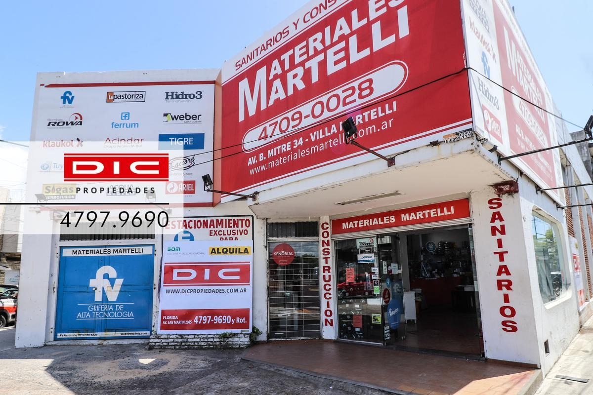 local doble altura 350m2 - villa martelli