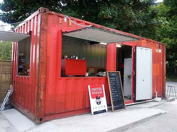 local para comida en contenedores
