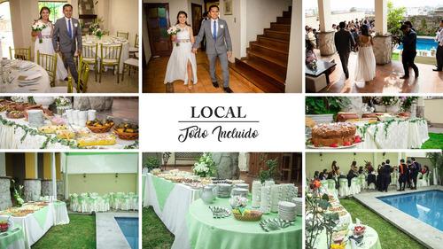 local para eventos todo incluido (15 años, bodas, fiestas)