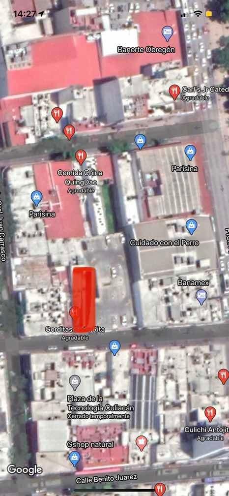 local renta centro culiacán en primer cuadro