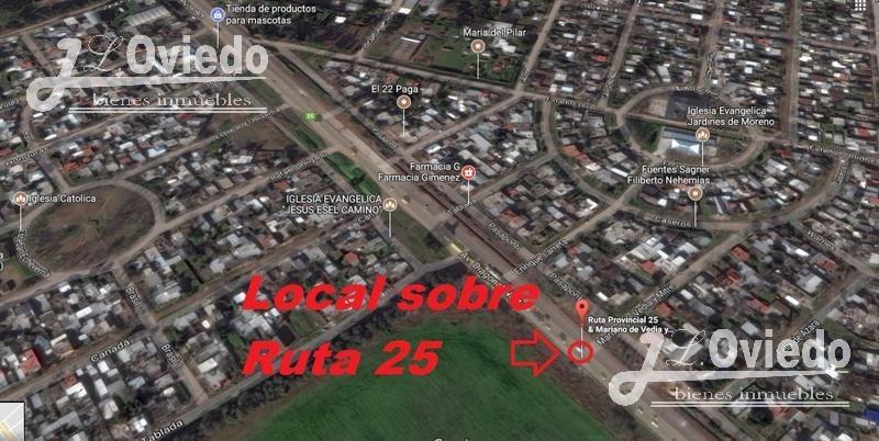 local sobre ruta 25 con escritura y precio negociable