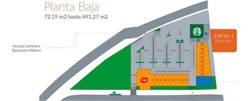 locales en renta, queretaro aleda, desde 72.50 m2 hasta 127.10 m2 pa