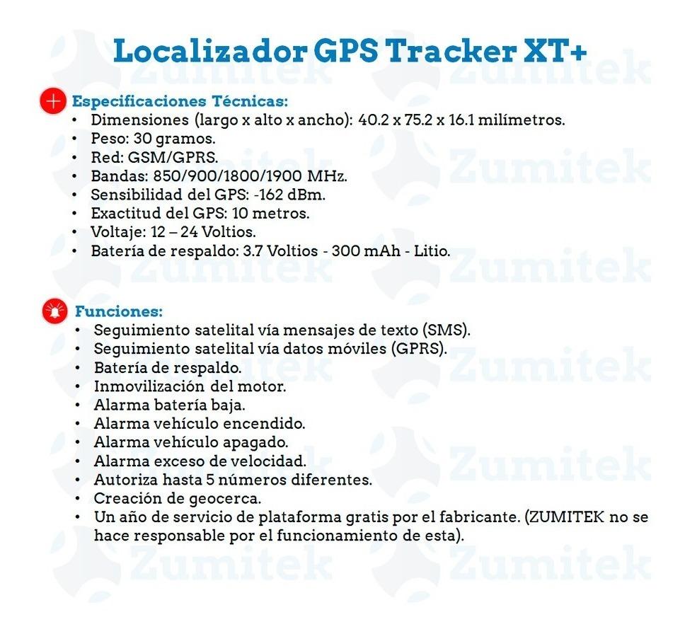 Localizador Gps Tracker Xt Plus Homologado Impermeable