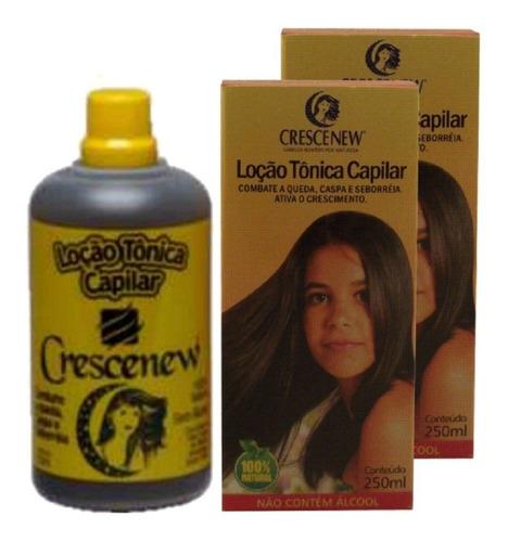 locao tonica capilar para crescimento cabelo crescenew