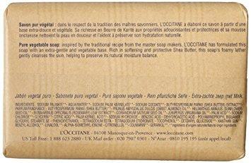 l'occitane shea butter jabon extra suave w18