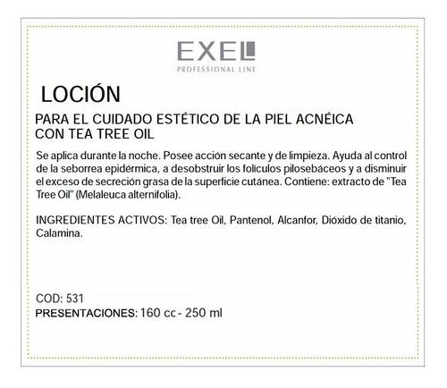 loción con tea tree oil para acné por 160ml - bio exel