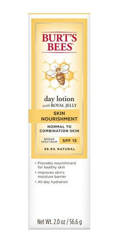 loción facial día burt's bees skin nourishment spf15 55gr