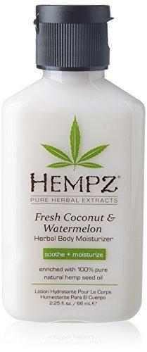 loción hidratante corporal hempz aceite coco hidratante y s